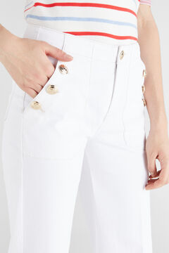 Cortefiel Sailor jeans White