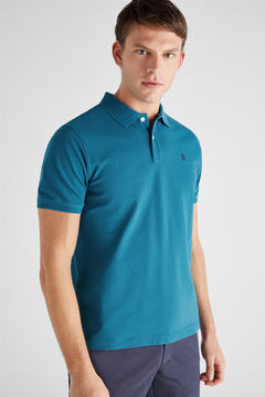 Cortefiel Essential short-sleeved polo shirt Blue