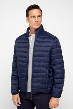 Cortefiel Ultralight quilted jacket with Thermolite eco Navy