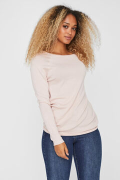 Cortefiel Boat neck jumper Pink