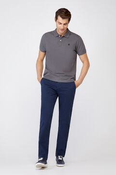 Cortefiel Essential classic fit lightweight chinos Navy