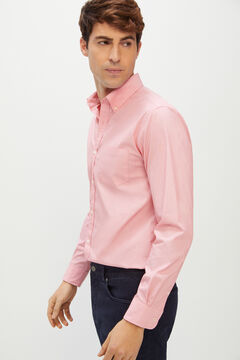 Cortefiel Plain Coolmax eco-made stretch shirt Coral