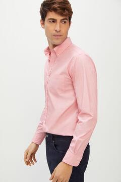 Cortefiel Camisa lisa coolmax eco-made stretch Rojo