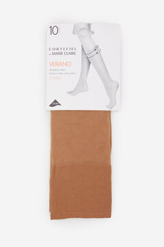 Cortefiel 10 denier knee-high pop socks Camel