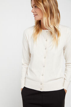 Cortefiel Eco-friendly jewel button jacket Ecru