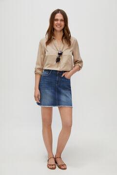 Cortefiel Short denim skirt Bluejeans