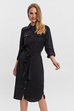 Cortefiel Midi shirt dress Black