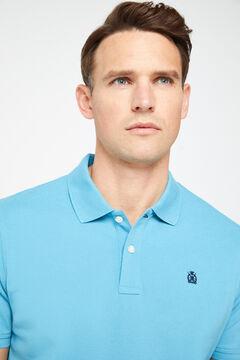 Cortefiel Short-sleeved logo polo shirt Burgundy