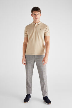 Cortefiel Essential short-sleeved polo shirt Mink