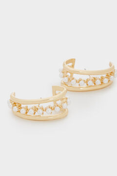 Cortefiel Short pearl earrings Ecru