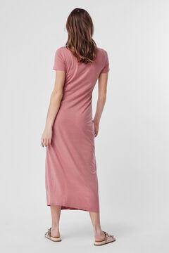 Cortefiel Long dress Pink