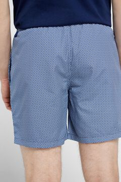 Cortefiel Geometric print swimming shorts Navy