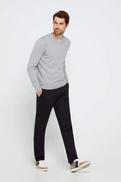Cortefiel Essential regular fit lightweight chinos Black