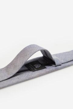 Cortefiel Plain linen tie Navy