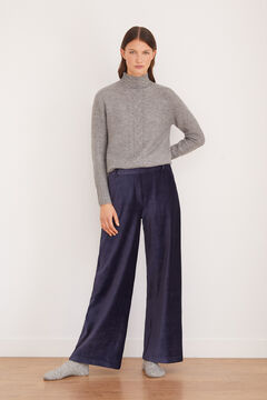 Cortefiel Super comfortable corduroy trousers Navy