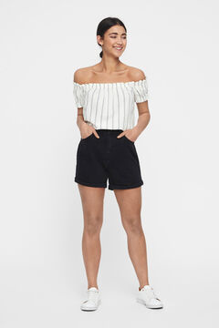 Cortefiel Short Denim Negro
