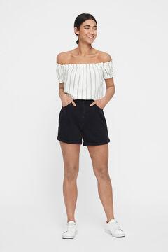 Cortefiel Denim shorts Black