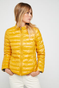 Cortefiel Reversible feather bomber jacket Yellow
