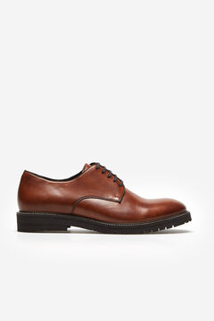 Cortefiel Lace-up flexible sole shoe Tobaco