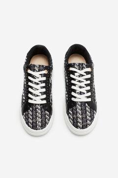Cortefiel Tweed sneaker Black