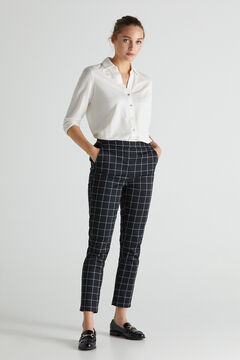 Cortefiel Trousers with elasticated back Natural