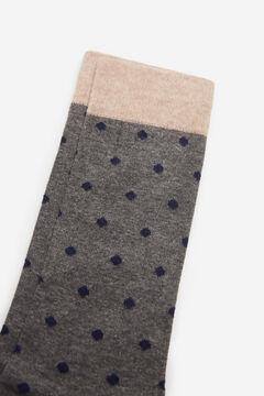 Cortefiel Polka dot socks Dark gray