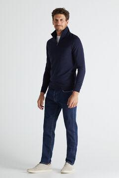 Cortefiel Turtleneck sweatshirt Navy