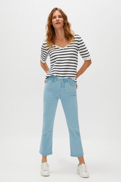 Cortefiel Cropped bell-bottom jeans Blue