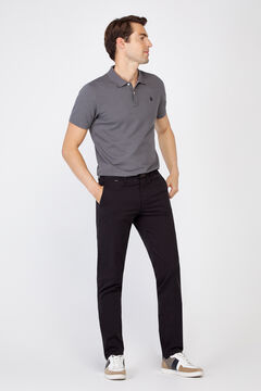 Cortefiel Essential slim fit lightweight chinos Black