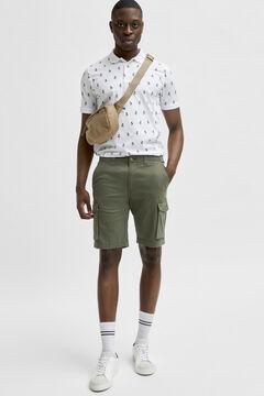 Cortefiel Cargo Bermuda shorts Pistachiogreen