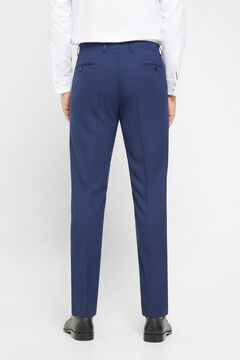 Cortefiel Blue slim fit suit trousers Navy