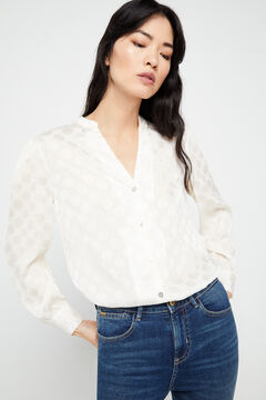 Cortefiel Polka dot blouse White