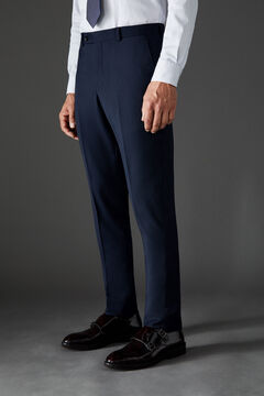 Cortefiel Navy blue slim fit suit trousers Navy