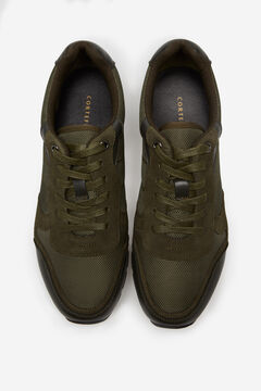 Cortefiel Rubber sole running sneaker Dark green