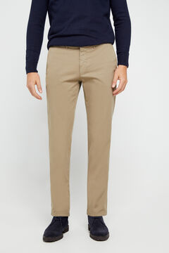 Cortefiel Essential regular fit lightweight chinos Pink
