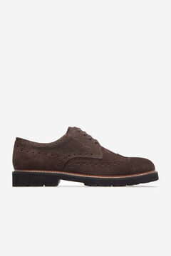 Cortefiel Lace-up rubber-soled shoes Dark brown