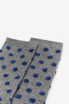Cortefiel Flocked polka dot socks Dark gray