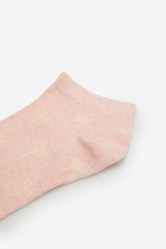 Cortefiel Dandelion print ankle socks Lilac