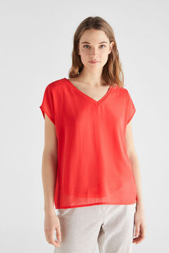 Cortefiel Combined sleeveless top Purpura