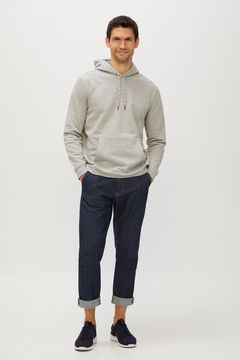 Cortefiel Organic denim tapered fit chinos Navy