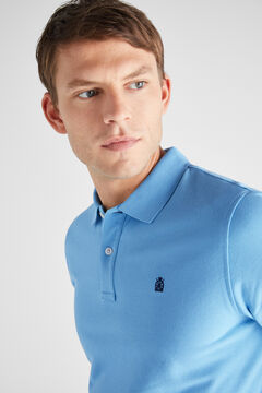 Cortefiel Essential short-sleeved polo shirt Stone