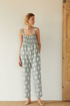 Cortefiel Long floaty jumpsuit Green