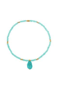Cortefiel SUMMER beaded elastic bracelet  Burgundy