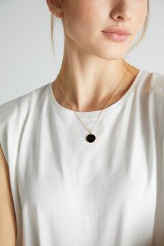 Cortefiel Collar corto CORAJE - Negro - Oro Amarillo