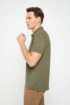 Cortefiel Short-sleeved logo polo shirt Pink