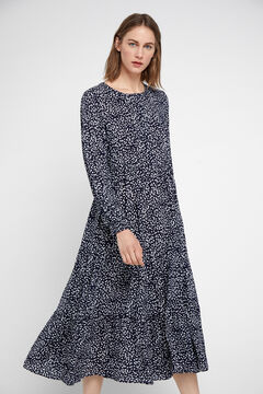 Cortefiel Floaty layered dress Blue