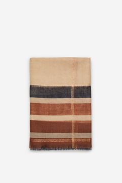Cortefiel Copper lurex fine scarf Natural