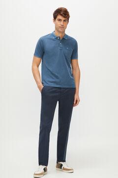 Cortefiel Pantalón cintura elástica estructura slim fit Azul