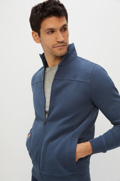 Cortefiel Zipped cardigan Royal blue