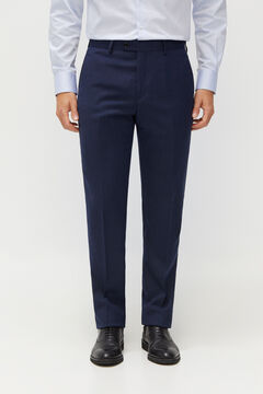 Cortefiel Birdseye tailored fit Coolmax® trousers Turquoise